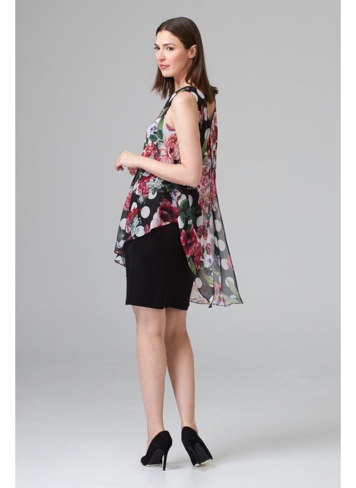 Joseph Ribkoff, Koktajlowa sukienka z narzutką bez rękawów