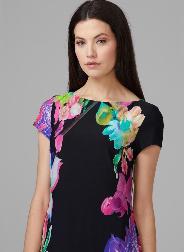 Joseph Ribkoff, Czarna sukienka w kwiaty