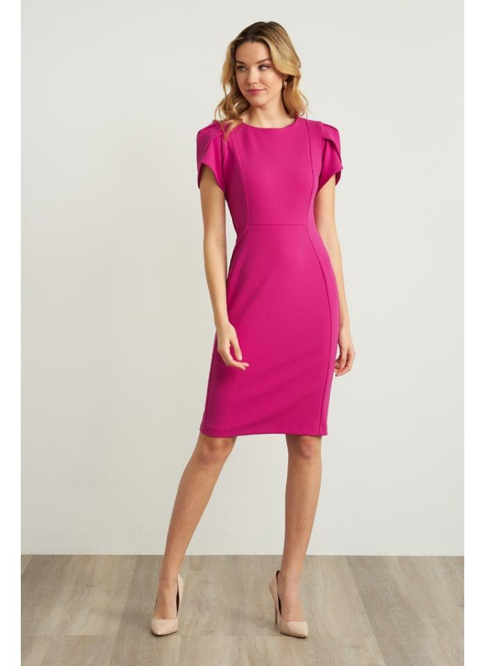 Joseph Ribkoff, Koktajlowa sukienka w różowym kolorze.