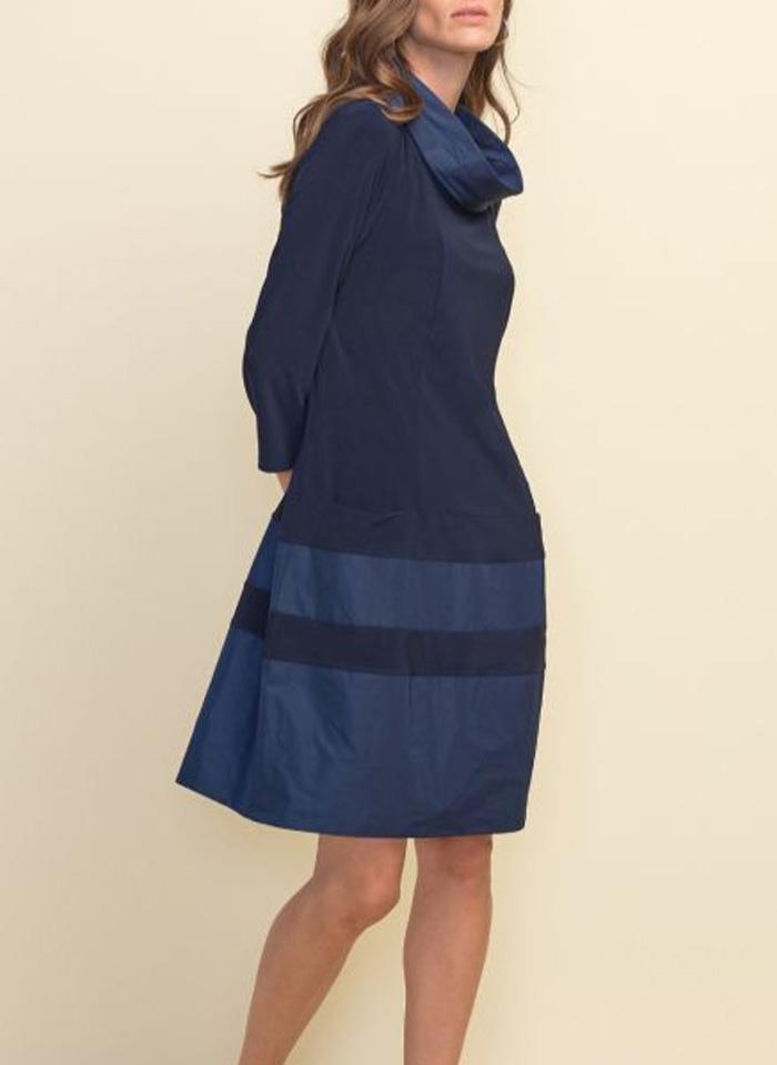 Joseph Ribkoff, granatowa sukienka w casualowym stylu