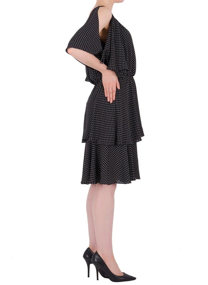 Joseph Ribkoff. Granatowa sukienka w groszki