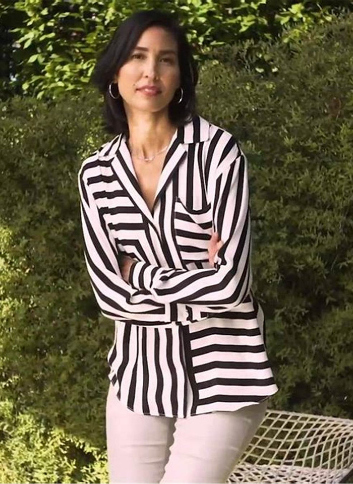 Joseph Ribkoff, Koszula w biało-czarny wzór.