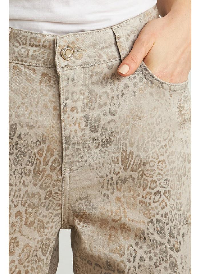 Joseph Ribkoff, Beżowe spodnie z motywem zwierzęcym