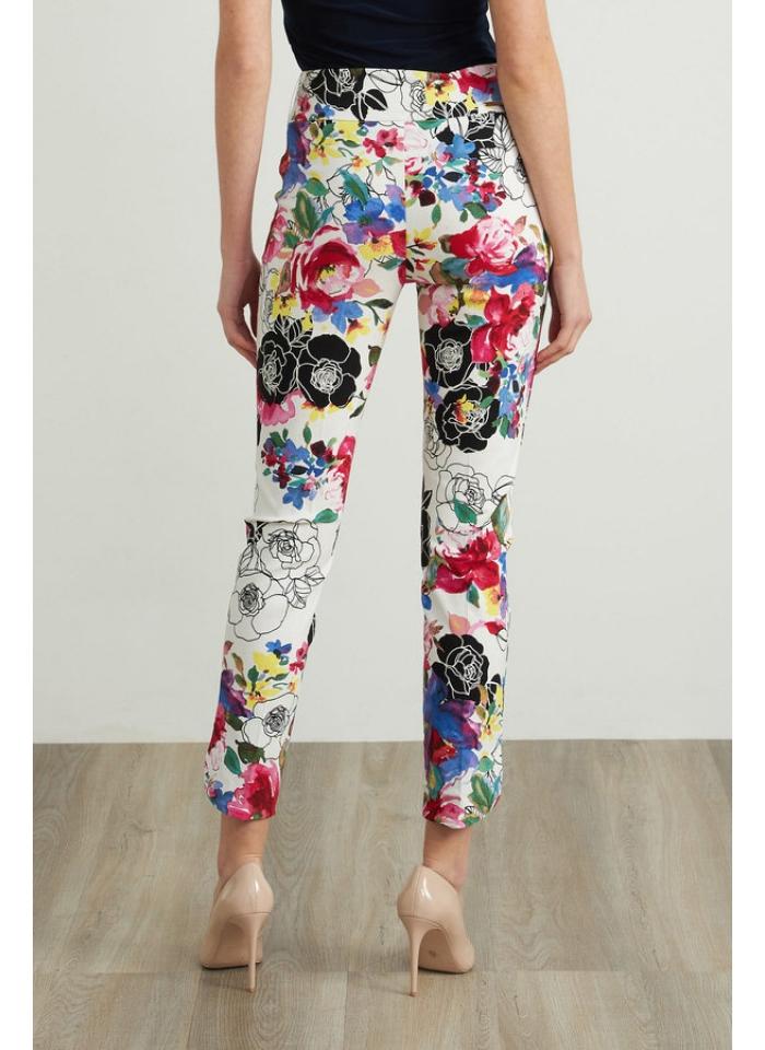 Joseph Ribkoff, Białe spodnie w kolorowe kwiaty