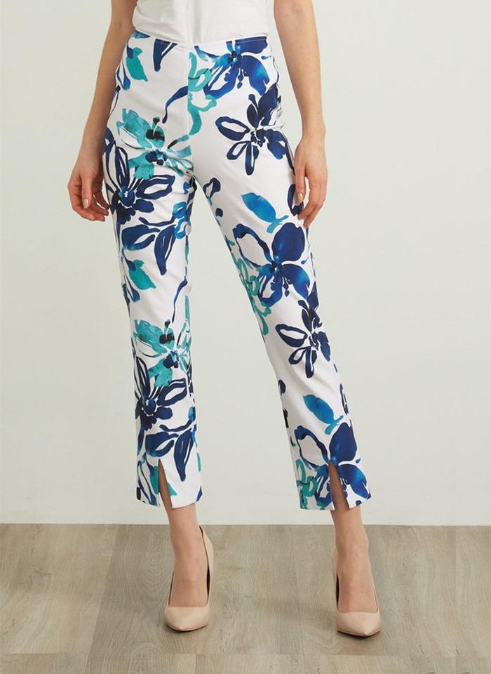 Joseph Ribkoff, Białe spodnie w niebieskie kwiaty