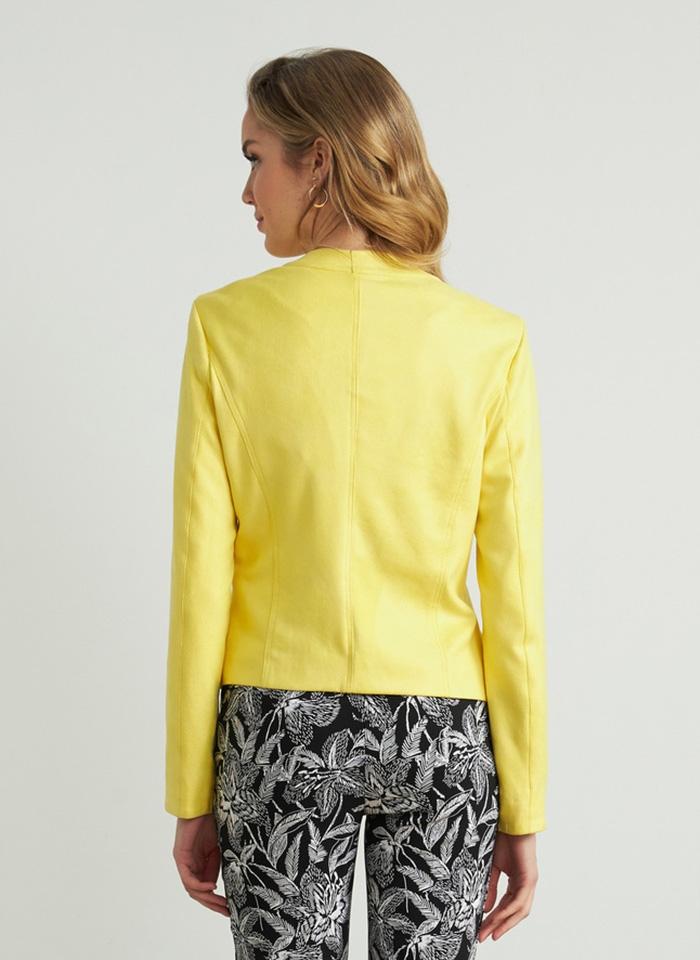 Joseph Ribkoff, Żakiet w żółtym kolorze z ozdobnymi kołami.