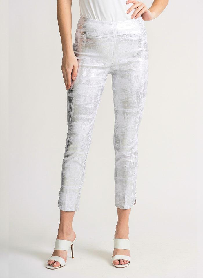 Joseph Ribkoff, Biało - srebrne spodnie