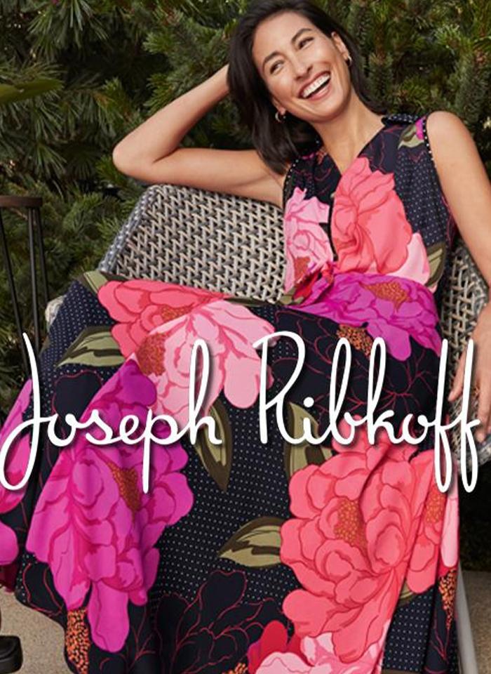 Joseph Ribkoff, Sukienka w kwiaty z kołnierzykiem