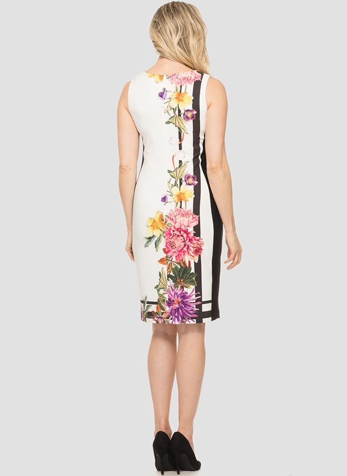 Joseph Ribkoff, Klasyczna biała sukienka w kwiaty